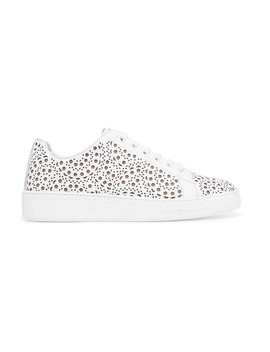 Laser Cut Leather Sneakers by Alaïa