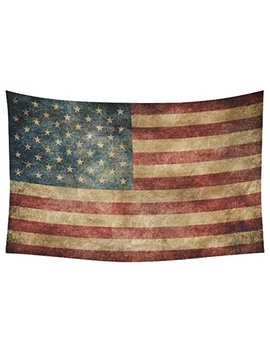Interest Print Stars And Stripes Usa Flag Wall Art Home Decor, Vintage Retro American Flag Background Bule Red Tapestry Wall Hanging Art Sets 60 X 40 Inches by Interest Print