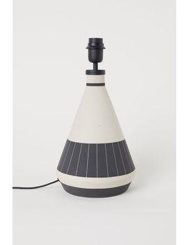 Großer Lampenfuß Aus Steingut by H&M