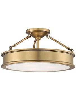 Minka Lavery Semi Flush Mount Ceiling Light 4177 249, Harbour Point Glass Lighting Fixture, 3 Light, Liberty Gold by Minka Lavery