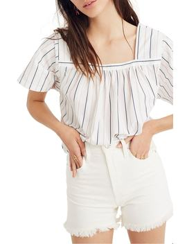 Stripe Square Neck Top by Madewell