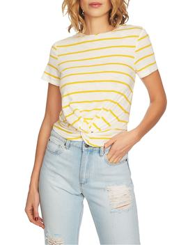 Stripe Twist Front Short Sleeve Tee by 1.State