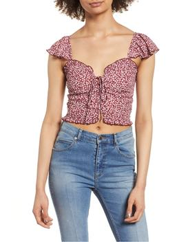 Lace Up Crop Top by Band Of Gypsies