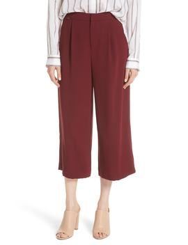 High Waist Wide Leg Crepe Crop Pants by Vince