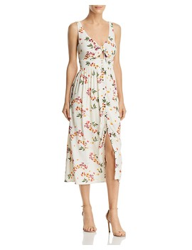 Regina Floral Print Midi Dress by Lost And Wander