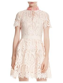 Regina Floral Lace Dress by Maje