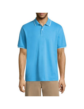 St. John's Bay Short Sleeve Pique Polo Shirt by St. John`s Bay