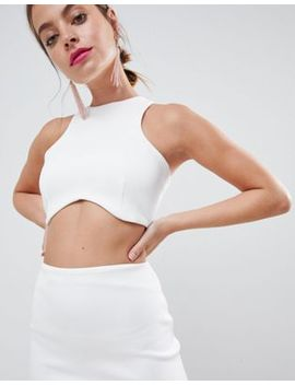 Asos Design Petite Super Cut Out Bodycon Midi Dress by Asos Design