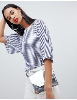 Weekday Textured Stripe T Shirt by Weekday