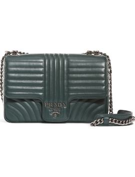 Large Quilted Leather Shoulder Bag by Prada