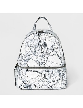 Marble Print Mini Backpack Handbag   T Shirt And Jeans White by T Shirt & Jeans