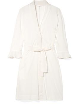 Blake Voile Trimmed Pima Cotton Robe by Skin