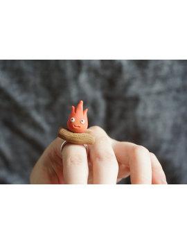 Calcifer Ring Handmade by Etsy