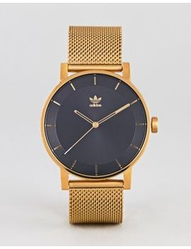 Adidas Z04 District Mesh Watch In Gold by Adidas