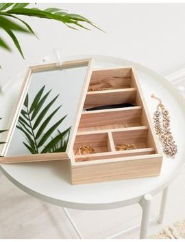 Chickidee Wooden Trinket Box And Mirror by Chickidee
