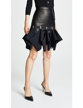 Leather Hook Miniskirt by Dion Lee