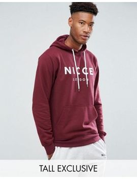 Nicce Hoodie In Red With Chest Logo Exclusive To Asos by Nicce London