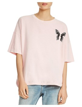 Turner Butterfly Embroidered Tee by Maje
