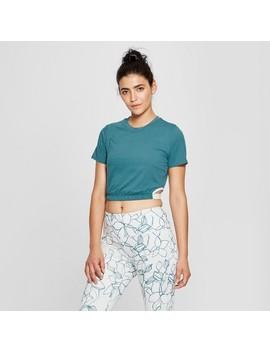 Women's Cropped Asymmetrical Cut Out T Shirt   Joy Lab™ by Joy Lab™