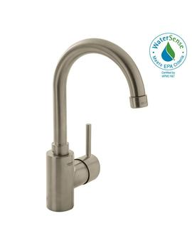 Concetto Single Hole Single Handle High Arc Bathroom Faucet In Nickel Infinity Finish by Grohe