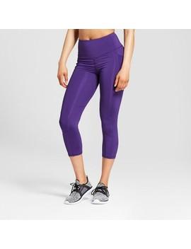 Women's Striped Embrace High Waist Laser Cut Capri Leggings   C9 Champion® by C9 Champion®