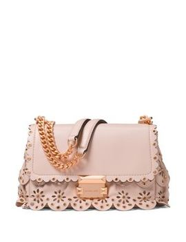 Sloan Small Floral Scalloped Leather Shoulder Bag by Michael Michael Kors