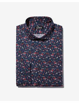 Slim Floral Dress Shirt by Express