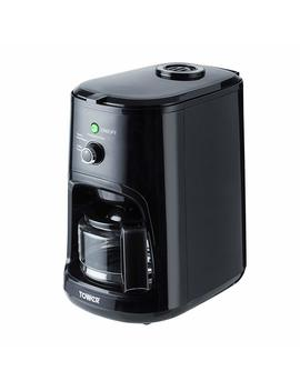 Tower T13005 Coffee Maker, Coarse And Fine Grinding Options, Black by Amazon