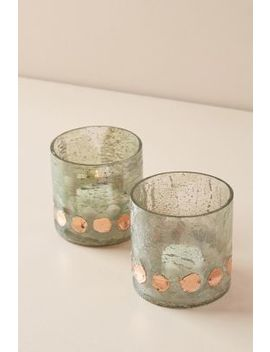 Gilded Dot Votive Set by Anthropologie