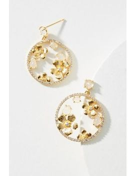 Petal Hoop Drop Earrings by Anthropologie