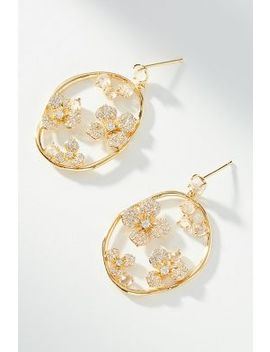 Encircled Flower Drop Earrings by Anthropologie