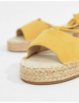 Asos Design Jump On Tie Leg Espadrille Sandals by Asos Design