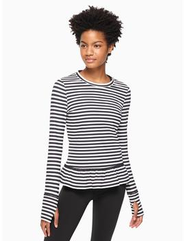 Stripe Ruffle Pullover by Kate Spade