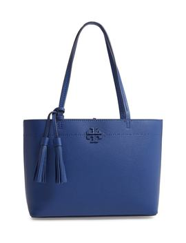 Small Mc Graw Leather Tote by Tory Burch