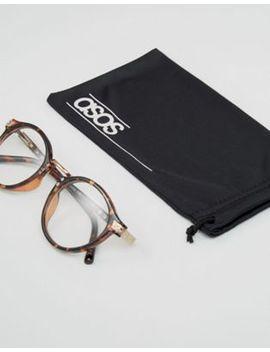 Asos – Runde, Ungetönte Vintage Brille In Schildpattoptik by Asos Design