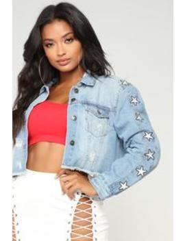 A Star In The Making Denim Jacket   Medium Wash by Fashion Nova