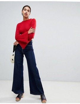 Boohoo Wide Sleeve Cropped Knit by Boohoo
