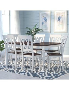 Beachcrest Home Tanner 7 Piece Dining Set & Reviews by Beachcrest Home