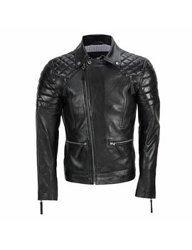 Xposed Men's New Real Soft Leather Antique Washed Brown Vintage Cross Zipped Casual Biker Jacket by Amazon