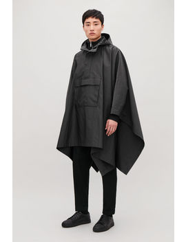 Hooded Cape With Pockets by Cos
