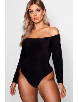 Plus Slinky Off The Shoulder Bodysuit by Boohoo