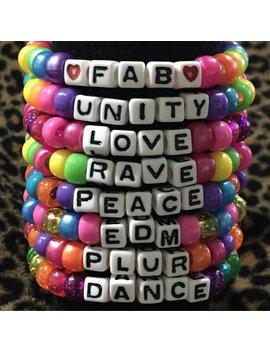 10 Kandi Bracelets Customized, Kandi Set Of 10 Kandi Singles, Kandi Singles, Plur Beads, Beaded Bracelet, Colorful Bracelets, by Etsy