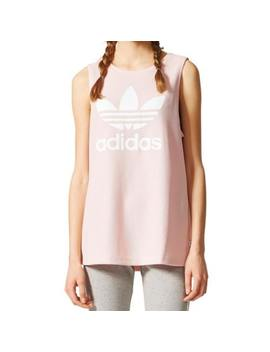 adidas-originals-womens-loose-trefoil-tank-top-icey-pink-relaxed-fit-bp9383 by adidas