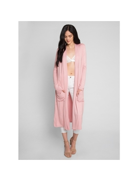 Autumn Sky Lightweight Cardigan In Light Pink by Wet Seal