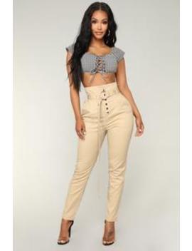 Oh No She Didn't Pants   Khaki by Fashion Nova