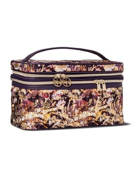 Sonia Kashuk™ Cosmetic Bag Double Zip Train Case Distress Floral With Foil by Shop This Collection