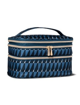 Sonia Kashuk™ Cosmetic Bag Triple Train Case Modern Geo by Shop This Collection