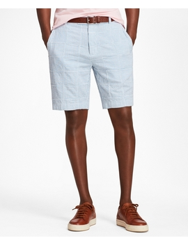 Patchwork Seersucker Bermuda Shorts by Brooks Brothers