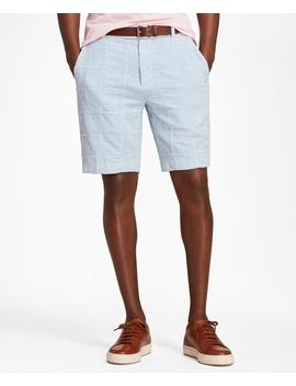 Patchwork Seersucker Bermuda Shorts by Brooks Brothers