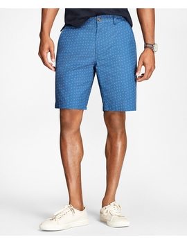 Ditsy Print Cotton Twill Shorts by Brooks Brothers